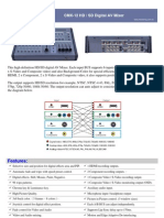 CMX-12 HD SD Digital AV Mixer Catalog