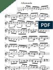 Johann Sebastian Bach Allemande E Minor BWV 996 Without Fingering