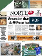 Periodico Norte de Ciudad Juárez 2 de Noviembre de 2012