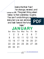 Yearly Quotes Calendar 2012