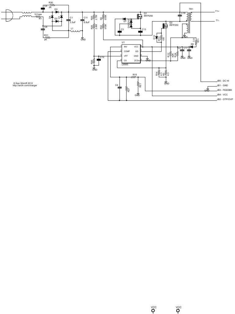 iPhone Charger Schematic