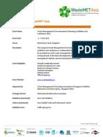 1 - 4 July WasteMET Asia Fact Sheet_English