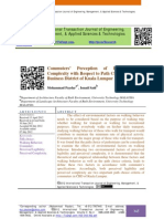 Commuters' Perception of Legibility and Complexity with Respect to Path Choice in Central Business District of Kuala Lumpur