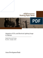 Adoption of CFLs and Electrical Lighting Usage in Pakistan