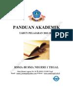 Buku Panduan Akademik SMAN 1 Tegal 2012-2013