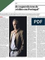 """Um Governo de esquerda tem de """"controlar o crédito em Portugal"""""""
