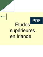 Etudes Superieures en Irlande