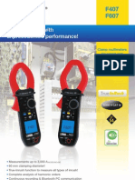 F407 & F 607 Harmonics Power Datalogging Clamp Multimeters