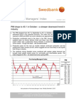 Purchasing Managers´Index - November 1, 2012