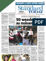 Manila Standard Today -- Saturday (November 03, 2012) issue