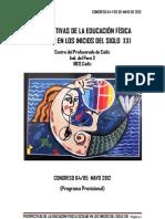 Programa Congreso Educación Física 2012
