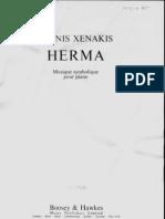 Xenakis - Herma for Piano
