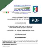 Comunicato 12 Monza