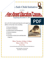 Parent Class Flyer Dec