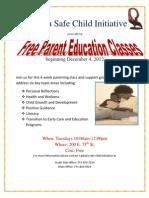 Parent Class Flyer Dec