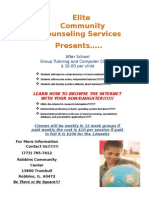 Youth 1st and ECCS Academic Tutoring and Computer Class Flyer