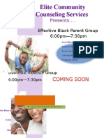 Youth 1st and ECCS Eff Black Parenting and DV Flyer