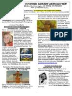 November 2012 Goodwin Library Newsletter- Edited