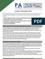 2012-11-01 Ifalpa Daily News