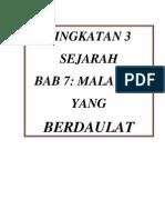 Bab 7 Pembentukan Negara Malaysia Nota