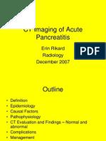 CT Imaging of Acute Pancreatitis