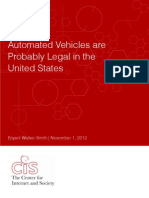 Automated Vehicles are Probably Legal in the United States