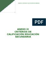 CRITERIOS CALIFICACIÓN ESO