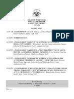 Bos Agenda 110812