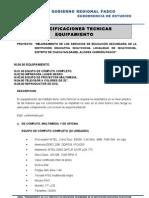 Especificaciones Tecnicas Mobiliario y Equipamiento