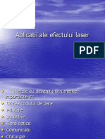Aplicatii Ale Efectului Laser
