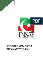 IPF Sindh Report - Analysis of Tax Amnesty Scheme