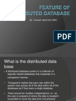 Feature of Distributed Database