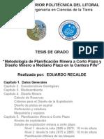 Planificacion Minera Diseno Cantera Pifo