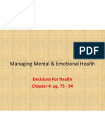 managing mental  emotional health