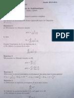 Complément de maths - Octobre 2012 - page 1