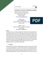 Determinants of Antenatal Care Services Utilisation in Nigeria