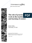 The role of practical work in the teaching and learning of science