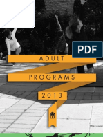 WCH Adult Programs Winter/Spring 2013