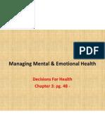 managing mental  emotional health 9