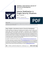 Interim Stabilisation in Fragile Security Settings