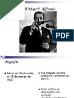 Raúl Ricardo Alfonsín presi