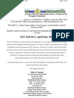 KIT April-May 2001, Vol XIII #4-5 New 6-16-01