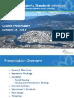 Rental Property Standards Initiative (Staff Presentation to Council)