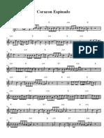 Partitura Corazon Espinado Sax Alto