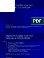 regulamentação em citopatologia