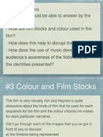 3 - Identity - Colour, Film Stocks, Music