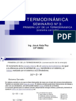 03 Primera Ley de La Termodinamica s. Cerrado