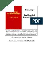 Ernst Jünger - Kampf als inneres Erlebnis