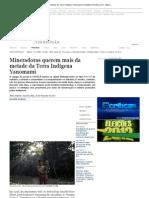 Mineradoras querem mais da metade da Terra Indígena Yanomami _ Amazônia _ Acritica