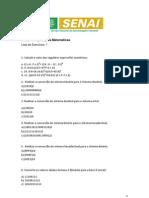 Lista de exercício - Sistemas de numeração
